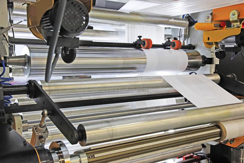 包装工业的机器 免版税库存图片