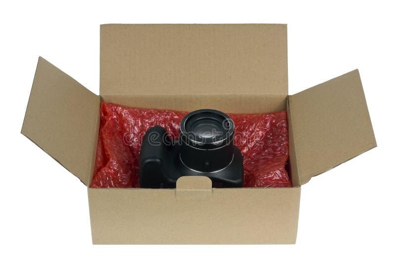 包装您的照相机的 免版税库存图片