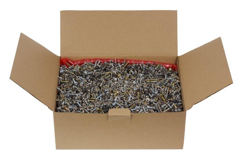 包装您的铁螺丝和坚果的 免版税库存图片