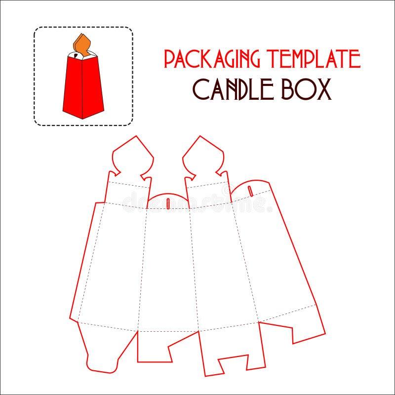 包装的模板蜡烛箱子 库存例证