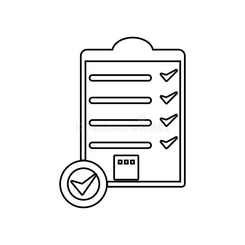 包装盒运输的清单象 r E 皇族释放例证