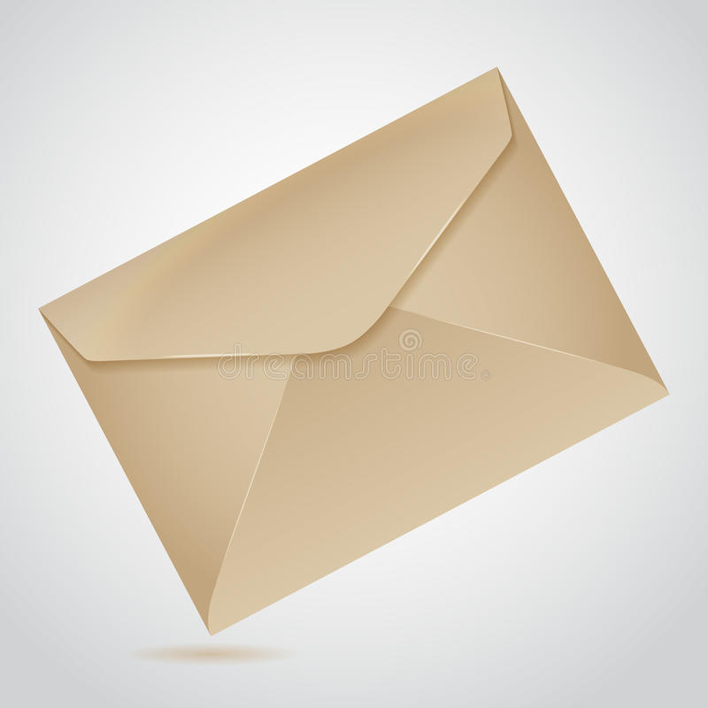 包装纸信封  库存例证