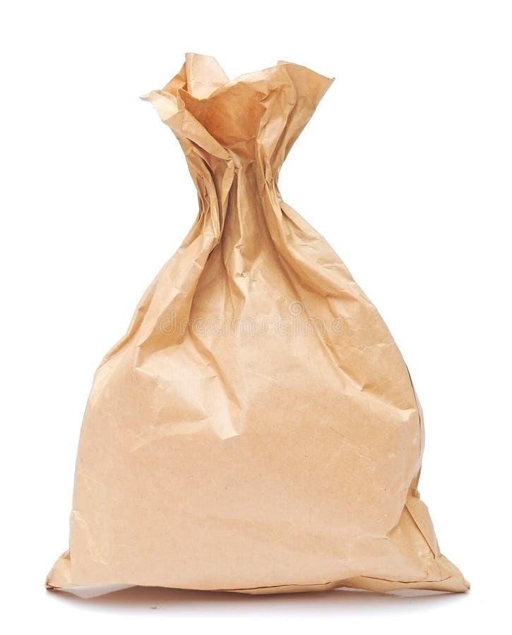 包装纸午餐袋子 免版税库存照片