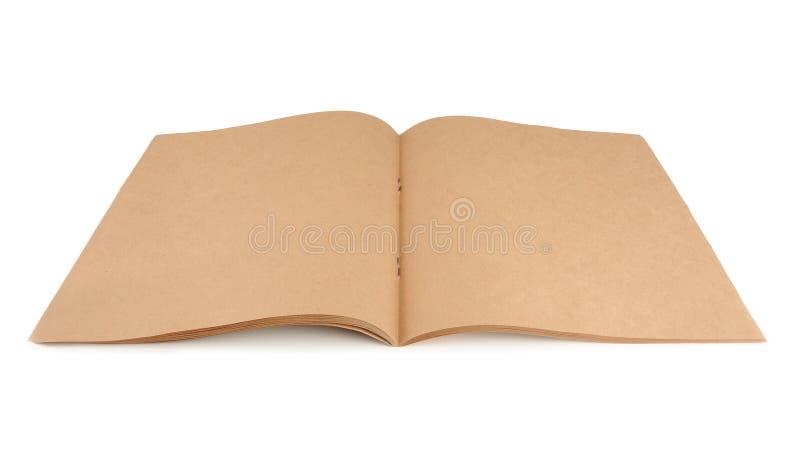 包装纸在白色背景隔绝的素描便笺簿 免版税库存图片