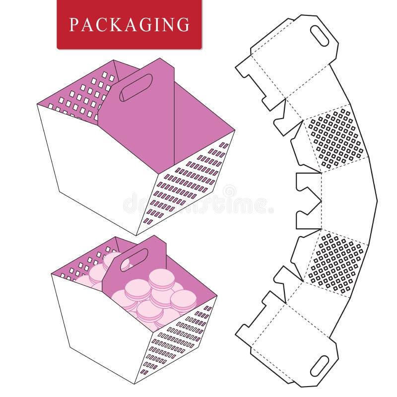 包裹模板野餐概念 库存例证