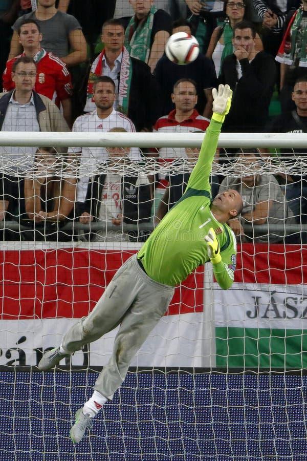 匈牙利与荷兰 罗马尼亚UEFA欧元2016年合格者足球比赛 库存照片