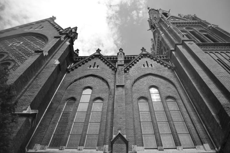 匈牙利人著名教会在布达佩斯 免版税库存照片
