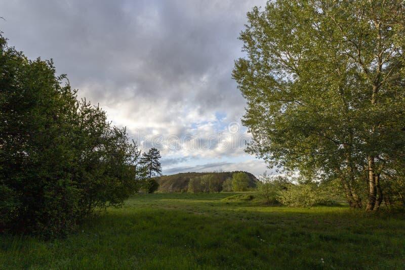 匈牙利埃尔德附近的绿山 免版税图库摄影