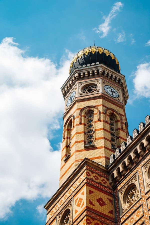 匈牙利布达佩斯多哈尼街犹太会堂 免版税图库摄影