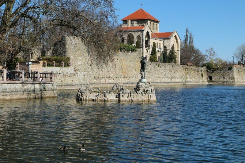 匈牙利旅游胜地,城堡陶陶 库存图片