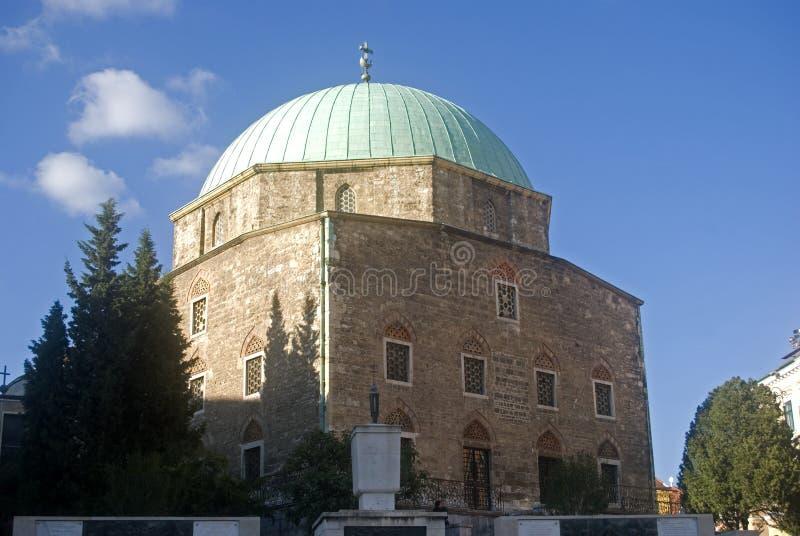匈牙利清真寺巴夏佩奇qasim 免版税库存照片