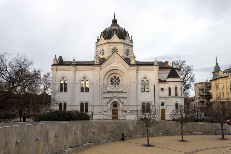 匈牙利索尔诺克的旧犹太会堂 库存图片