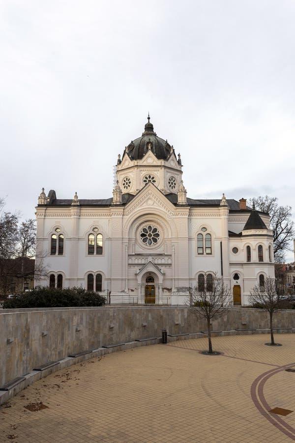 匈牙利索尔诺克的旧犹太会堂 免版税库存照片