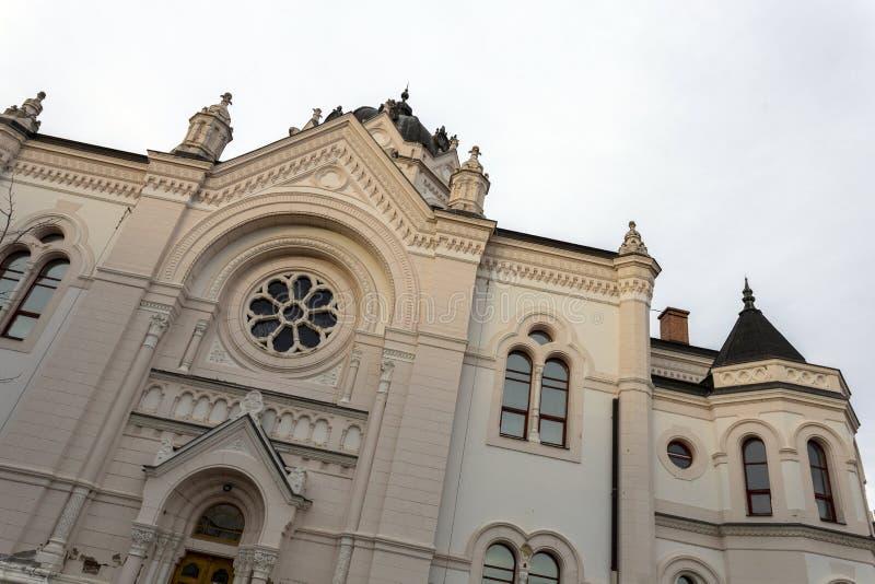 匈牙利索尔诺克的旧犹太会堂 免版税图库摄影