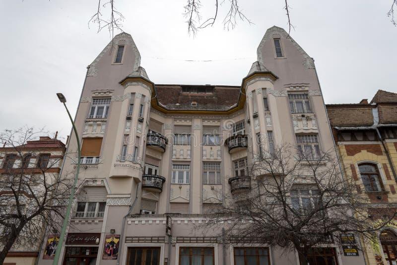 匈牙利索诺克新艺术运动建筑 免版税库存图片