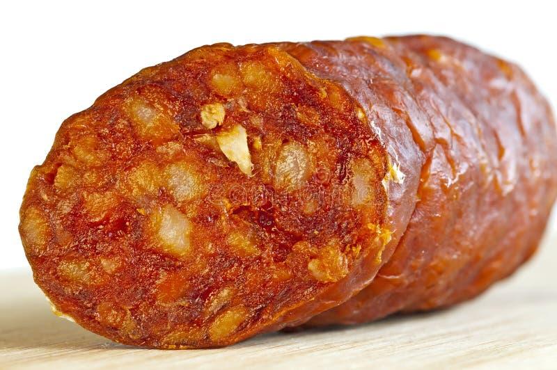 匈牙利kolbasz香肠 免版税图库摄影