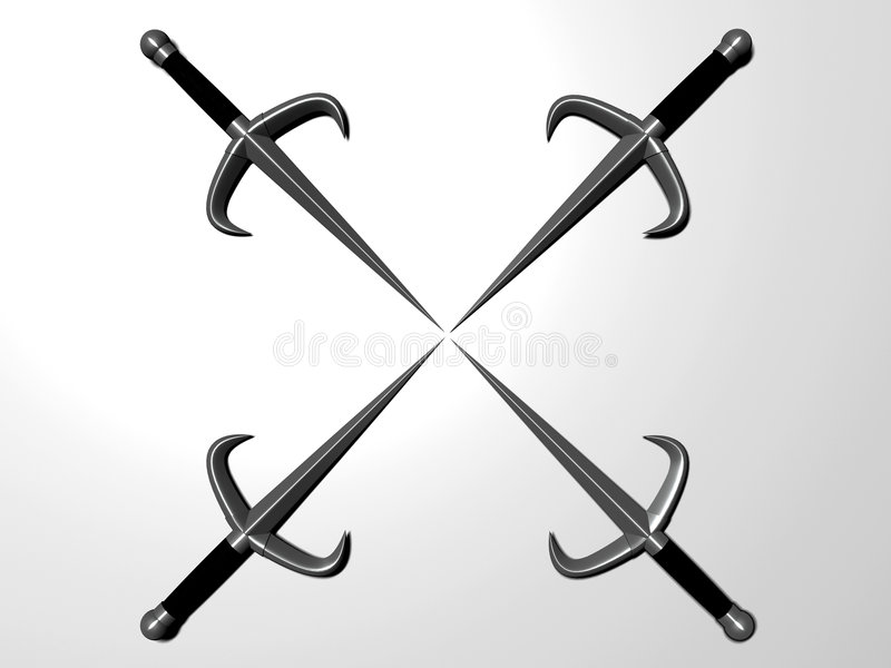 匕首四 向量例证
