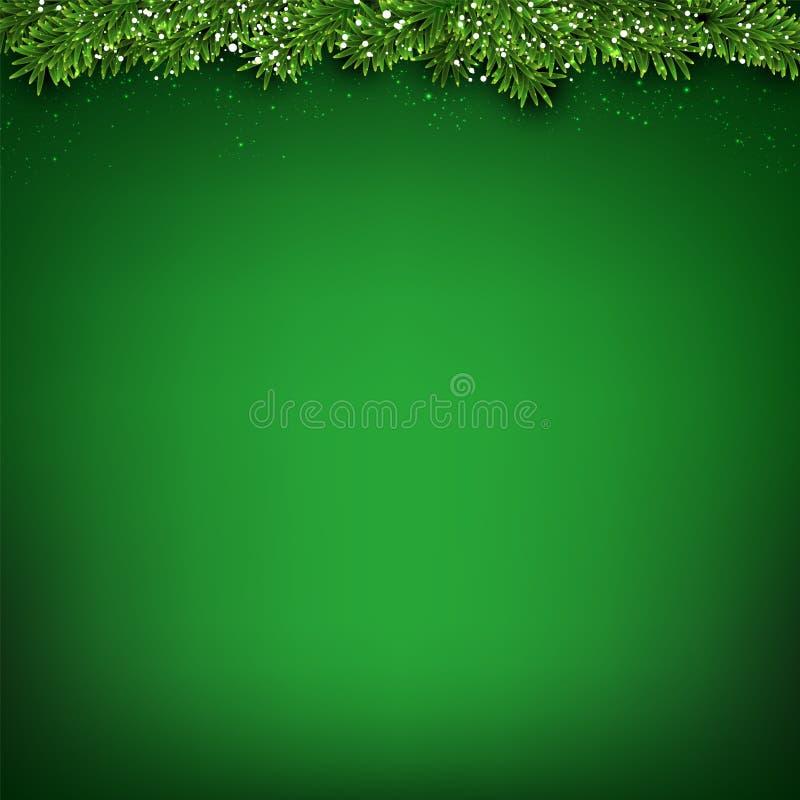 绿化圣诞节背景 向量例证