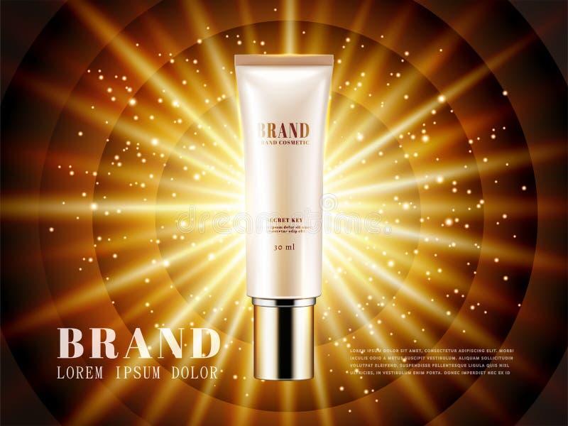 化妆产品广告 向量例证