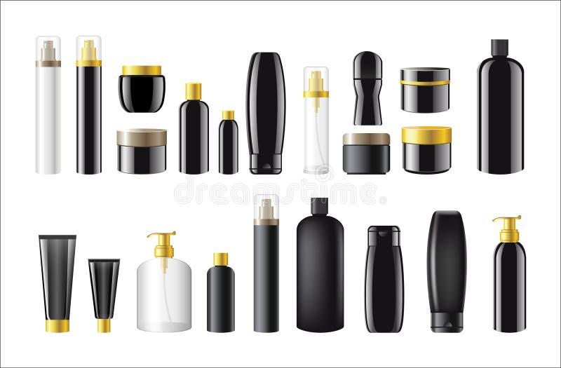 化妆包裹-现实传染媒介套对象 皇族释放例证