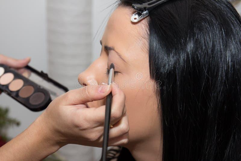 化妆师准备 免版税库存照片