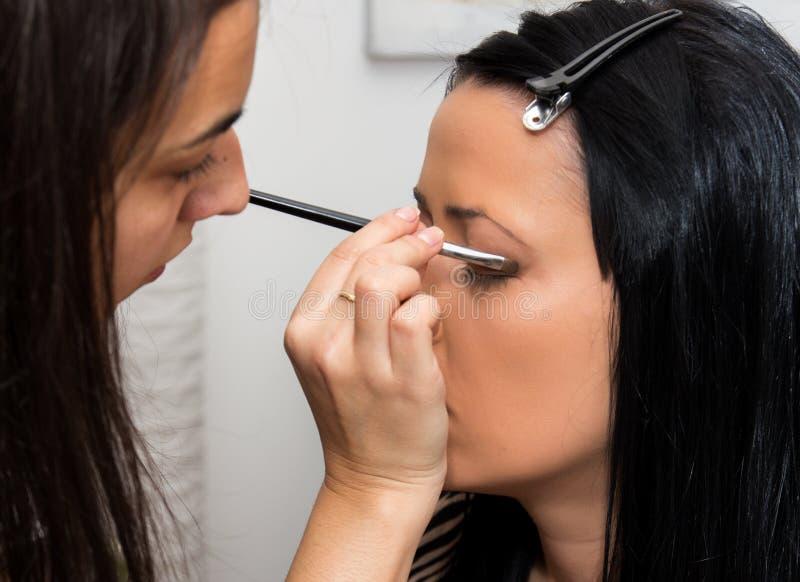 化妆师准备 库存照片