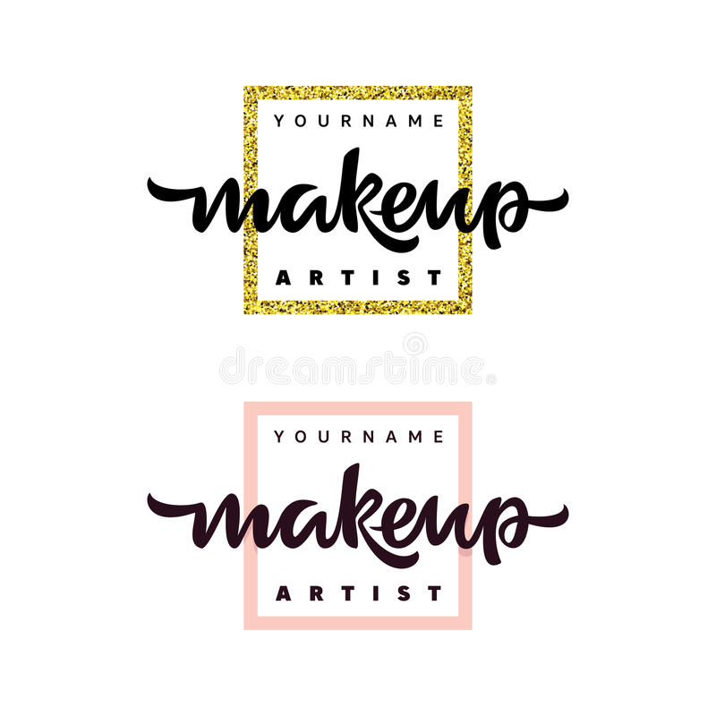 化妆师时尚商标 字法例证 向量例证