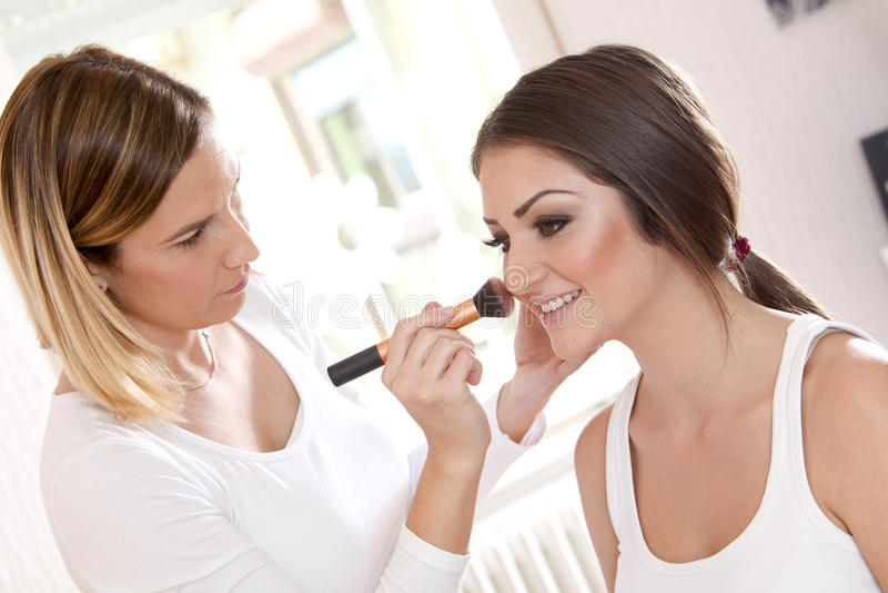 化妆师 库存图片
