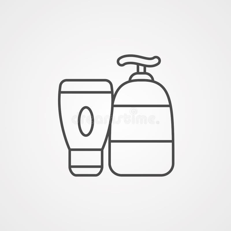 化妆水传染媒介象标志标志 向量例证