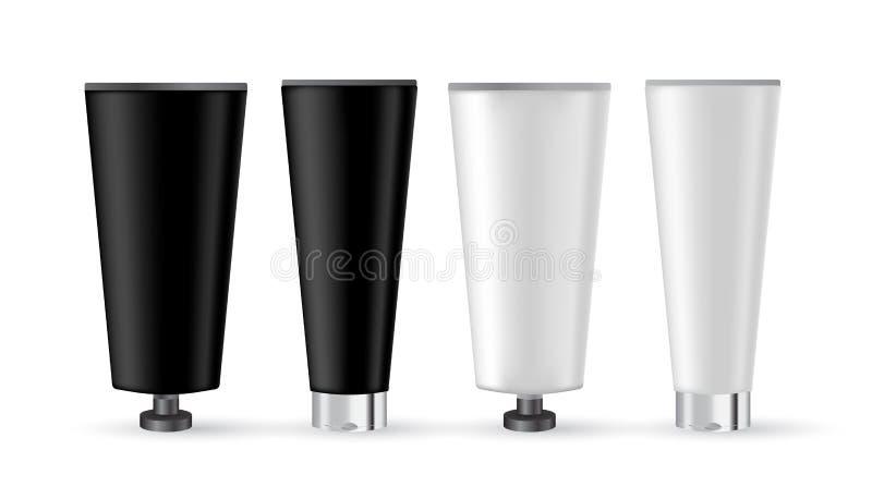 化妆用品产品广告海报模板 化妆大模型设计 库存例证