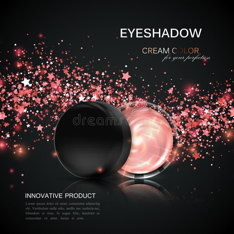 化妆用品产品广告 库存例证