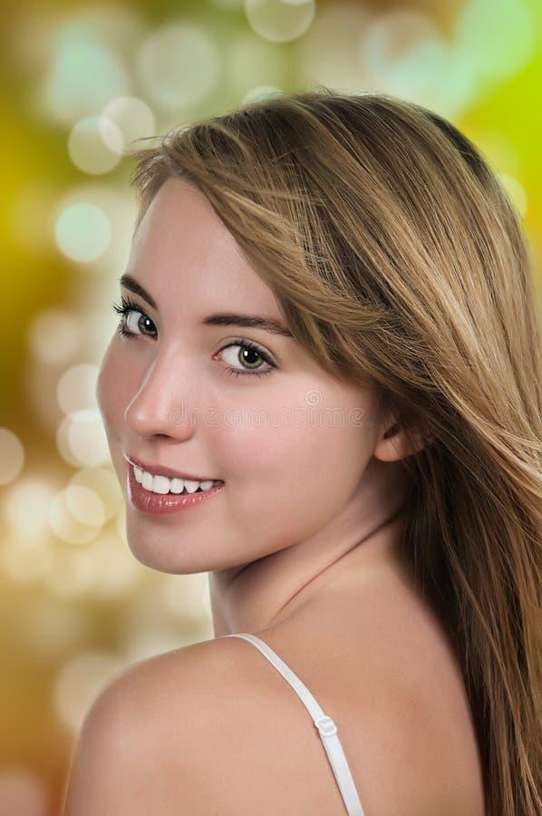 化妆用品和头发 图库摄影