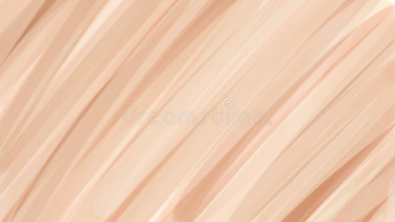 化妆用品和温泉的裸体颜色背景 多孔黏土更正高绘画photoshop非常质量扫描水彩 库存例证