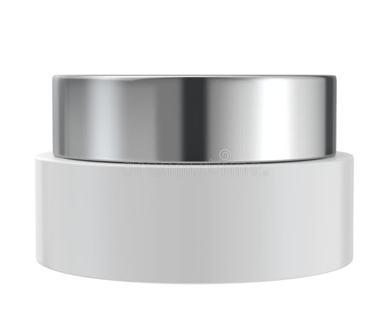 化妆用品在白色背景, 3D刺激隔绝翻译 皇族释放例证