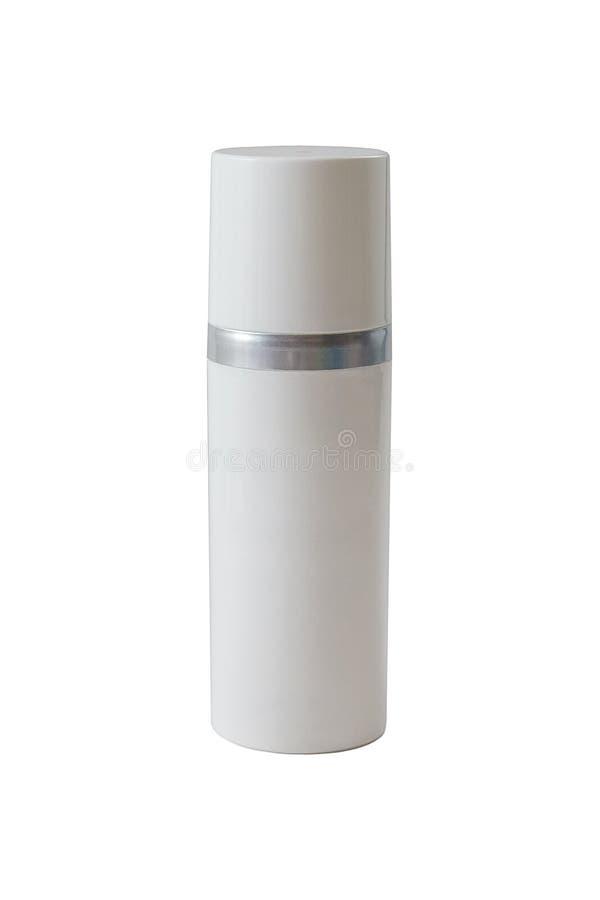 化妆用品的一支白色管-包装在被隔绝的白色背景 免版税库存照片