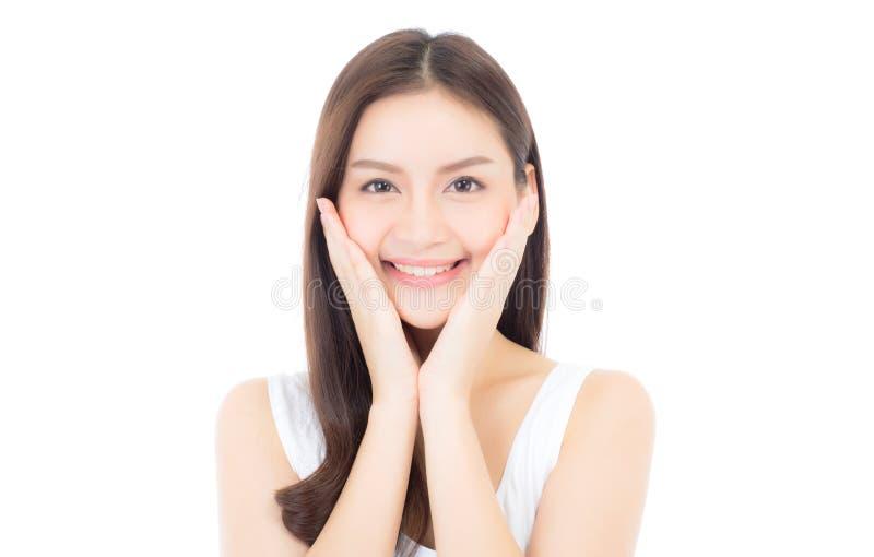 化妆用品美好的亚洲妇女构成画象  免版税库存照片