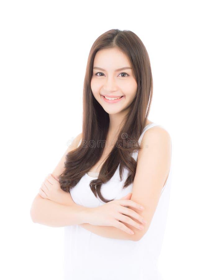 化妆用品美好的亚洲妇女构成画象  免版税库存图片