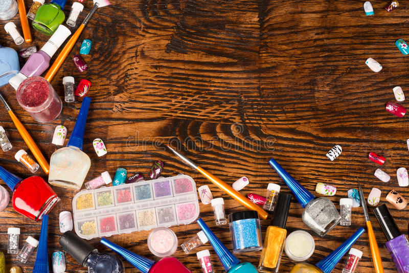 化妆用品背景 图库摄影