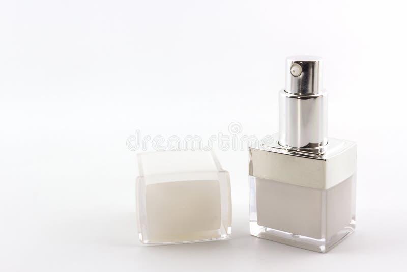 化妆用品装瓶,包装 库存照片