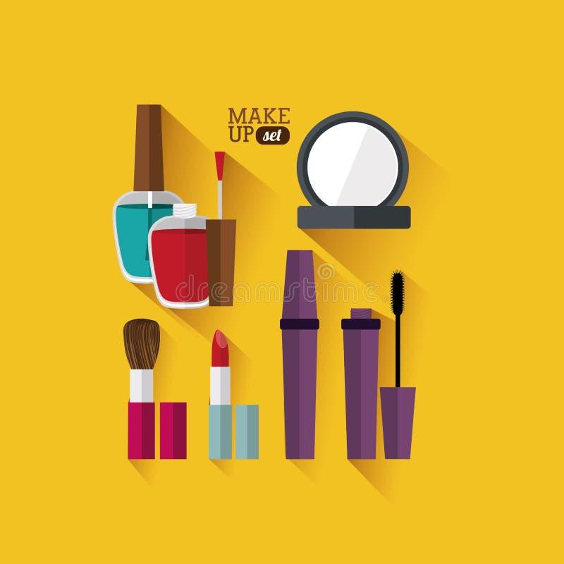 化妆用品设计 皇族释放例证