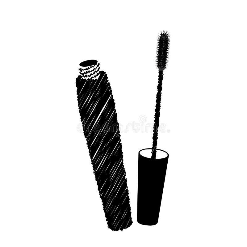 化妆用品设计 向量例证