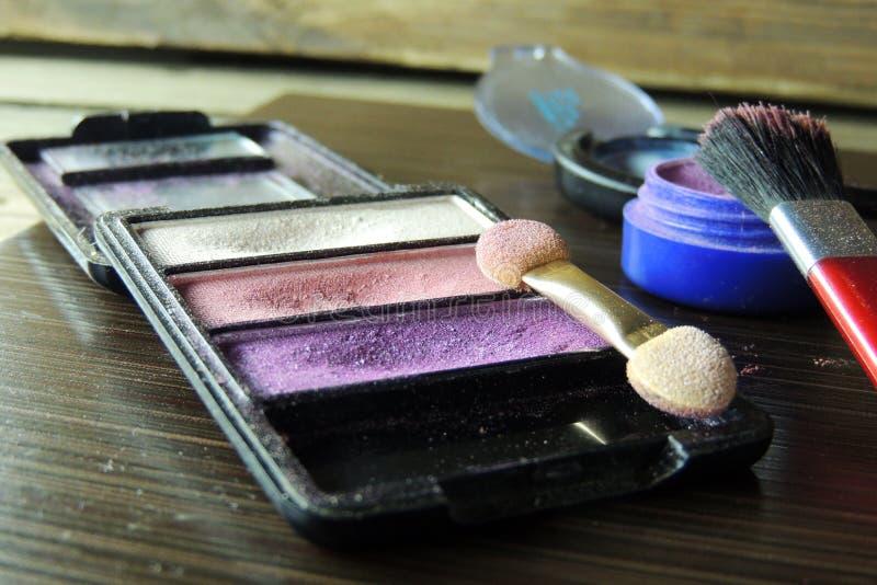 化妆用品 眼影 图库摄影