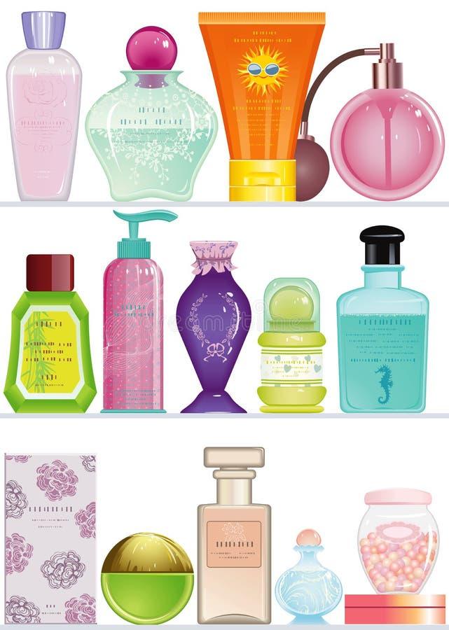 化妆用品 向量例证