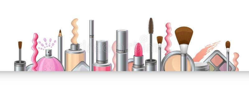 化妆用品 皇族释放例证