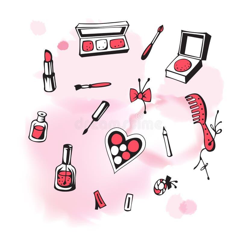 化妆用品 库存例证
