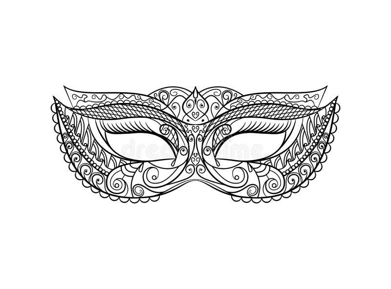 化妆舞会狂欢节面具 向量 皇族释放例证