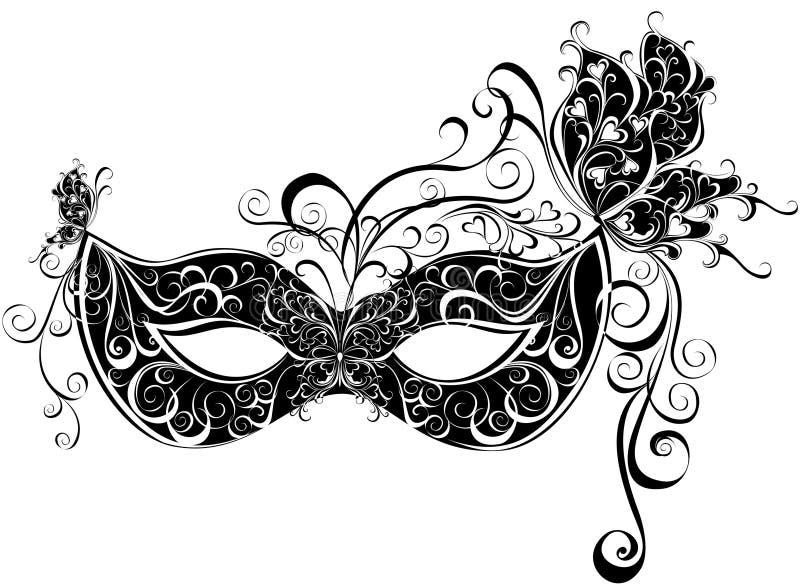 化妆舞会的屏蔽 向量例证