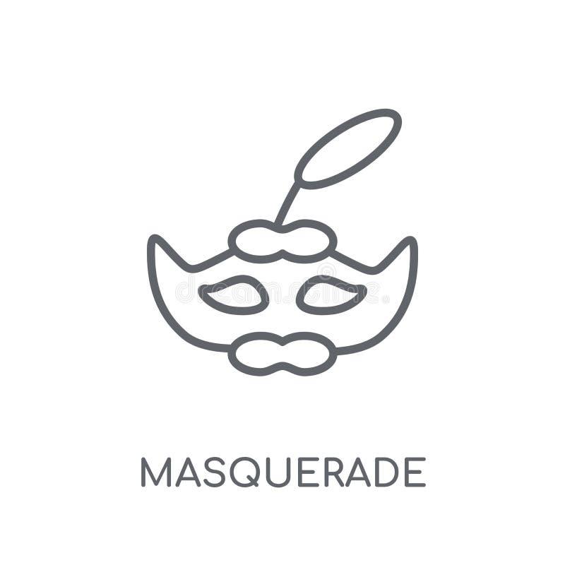 化妆舞会线性象 现代概述化妆舞会商标概念o 向量例证