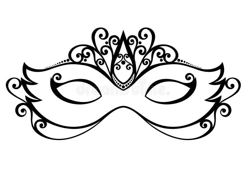 化妆舞会面具 库存例证