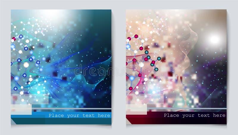 化学为您的设计设置的传染媒介背景 库存例证